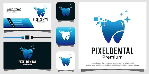 Design del logo del pixel dentale