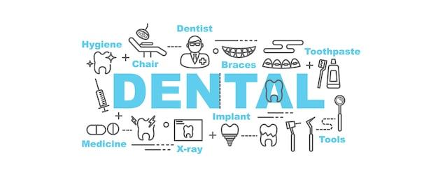 Banner vettoriale dentale