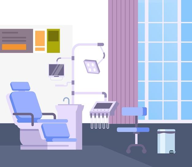 Concetto di sedia da ufficio medico dentista