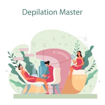 Illustrazione di concetto di depilazione ed epilazione