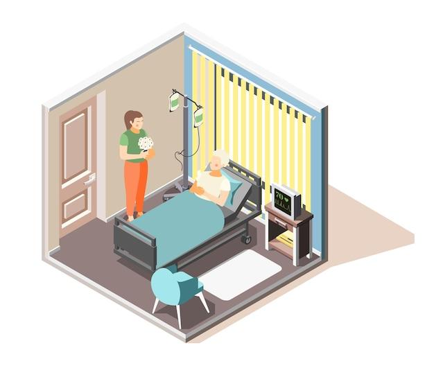 Illustrazione isometrica di disturbo da stress acuto di depressione ansia