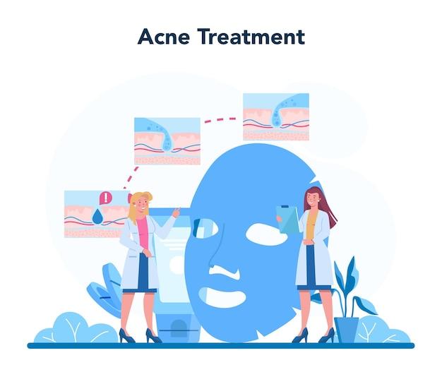 Illustrazione di concetto di dermatologo