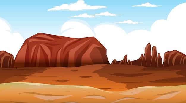 Paesaggio della foresta del deserto nella scena diurna