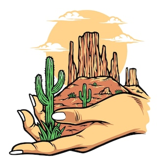 Deserto in mano