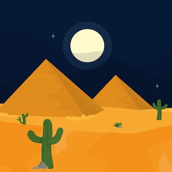 Deserto di notte