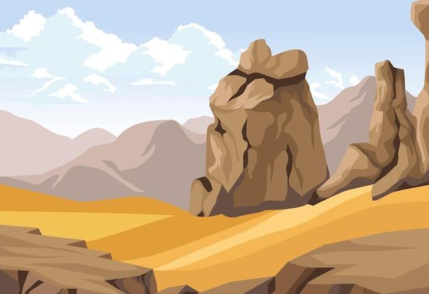 Deserto con rocce