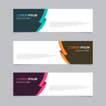 Bandiera di sfondo di progettazione. modello web moderno Vettore Premium