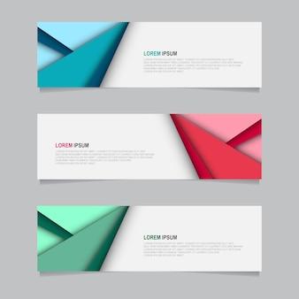 Bandiera di sfondo di progettazione. modello web moderno