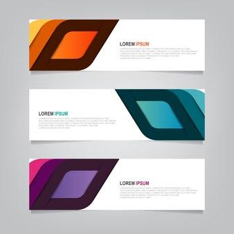 Design banner sfondo. modello web moderno Vettore Premium
