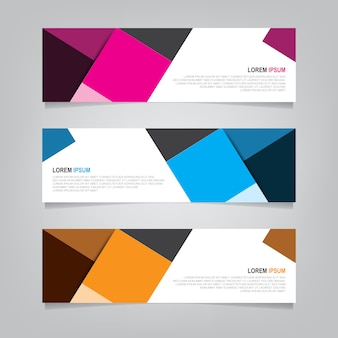 Design banner sfondo. modello web moderno