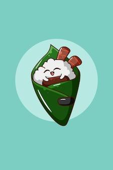 Carattere di design dell'illustrazione di sushi
