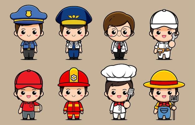Progettazione di una raccolta di personaggi di varie professioni