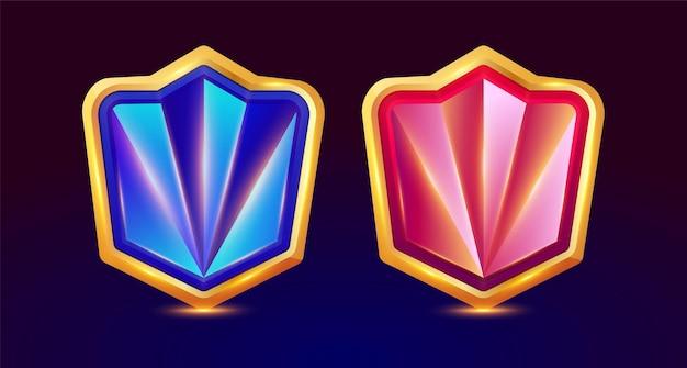 Design per un set completo di finestre popup di gioco con pulsante di livello ed elementi di gioco
