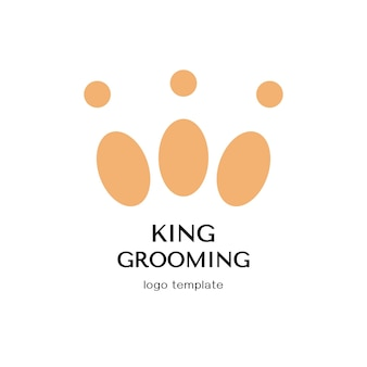 Concetto di design per pet barbiere o parrucchiere. modello di logo di vettore.