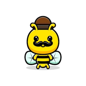 Progettazione di carino adulto miele delle api illustrazione