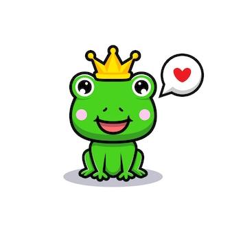 Design del simpatico re rana