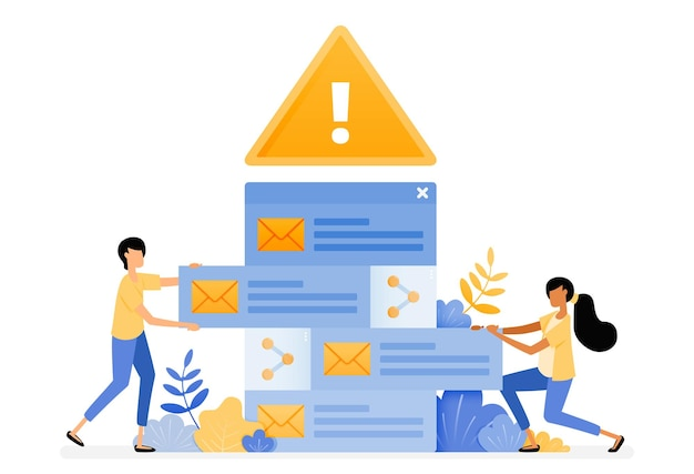 Progettazione di avvisi di errore per l'ordinamento delle e-mail in arrivo che contengono virus malware.
