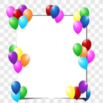 Il design di volantini decorati con palloncini.