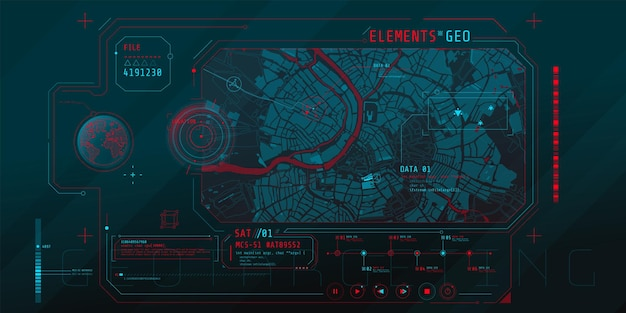 Progettazione di un'interfaccia software futuristica per il monitoraggio della posizione geografica