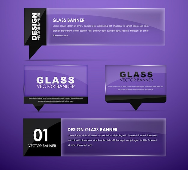Progettare striscioni in vetro con testo