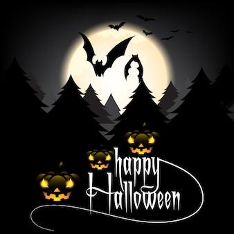 Disegno del testo happy halloween