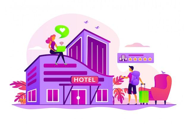 Concetto di hotel di design.