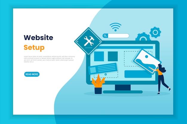 Illustrazione di progettazione delle impostazioni del sito web