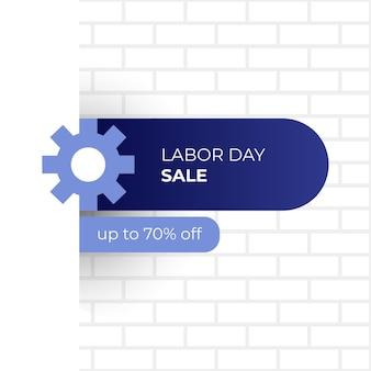 Design del banner di vendita della festa del lavoro
