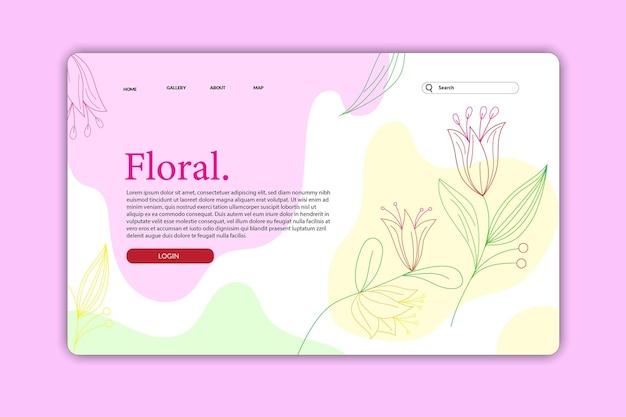Progetta landing page o pagine web progetta modelli di fiori naturali per beauty spa wellness