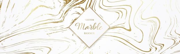 Progetta banner lungo con struttura in marmo