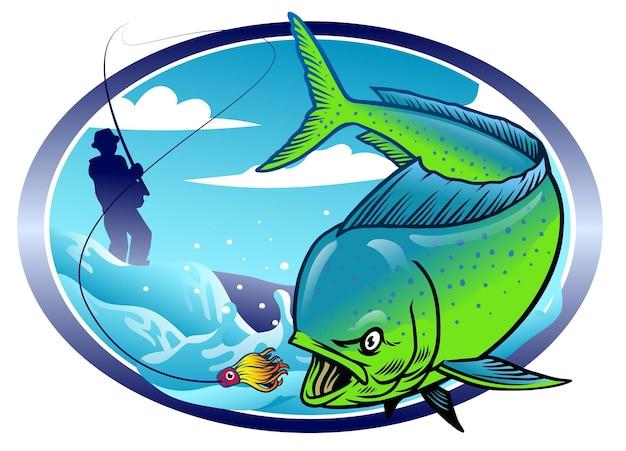 Design della pesca mahi mahi