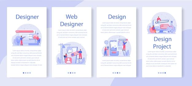 Progettare set di banner per applicazioni mobili.