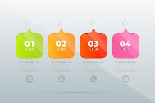 Design moderno infografica sui passaggi professionali