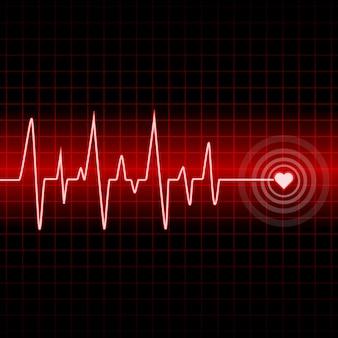 Design muta battito cardiaco con sfondo