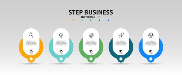 Modello di elemento di progettazione presentazione aziendale infografica