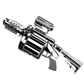 Granata lanciagranate di disegno vettoriale pistola
