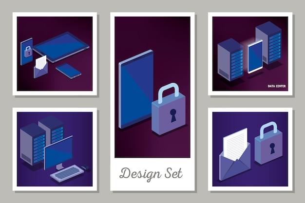 Disegni set di tecnologia digitale