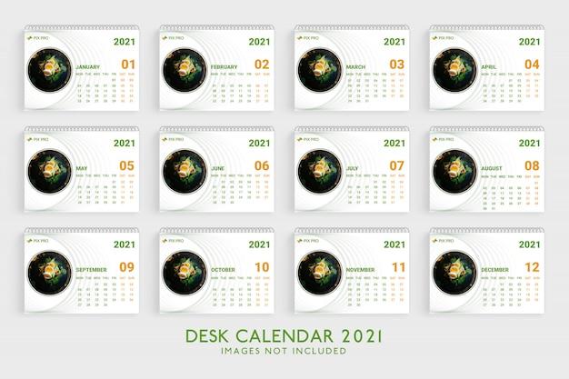 Calendario da tavolo 2021 modello premium