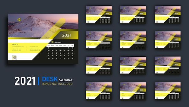 Calendario da tavolo 2021.