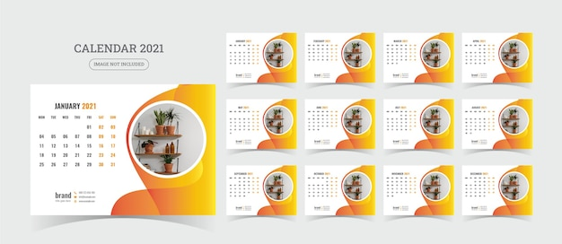 Illustrazione del calendario da tavolo