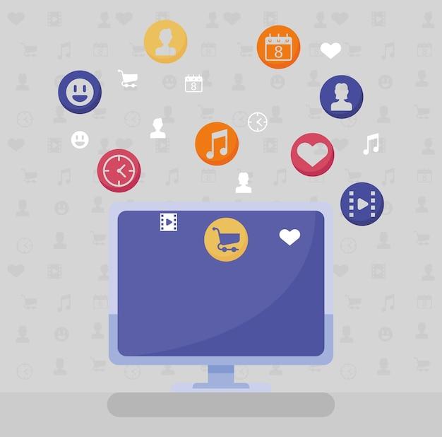 Desktop e social network