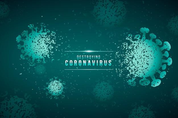 Distruggere lo sfondo del coronavirus