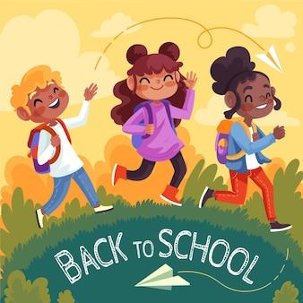 Sfondo dettagliato del ritorno a scuola