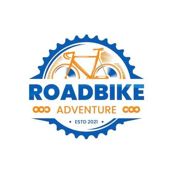 Modello di logo bici dettagliato