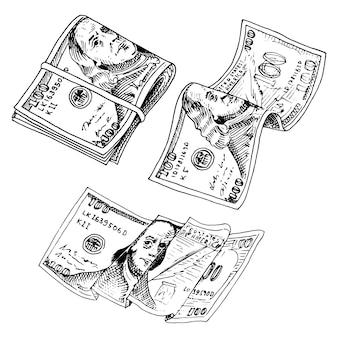 Banconote in valuta dettagliate