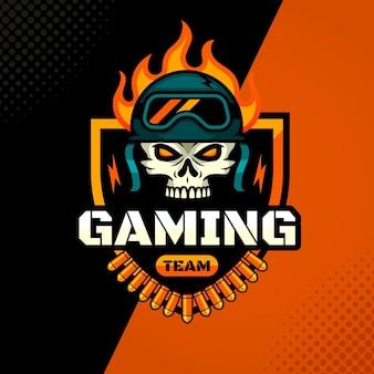 Logo di gioco esport dettagliato