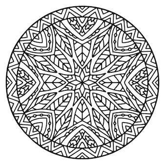 Ornamento arrotondato mandala dettagliata