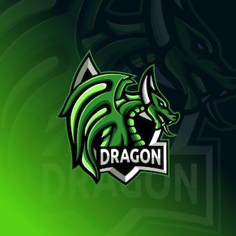Logo di gioco mascotte dettagliato