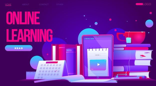 Modello di homepage di apprendimento online dettagliato