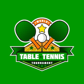 Logo dettagliato di ping-pong